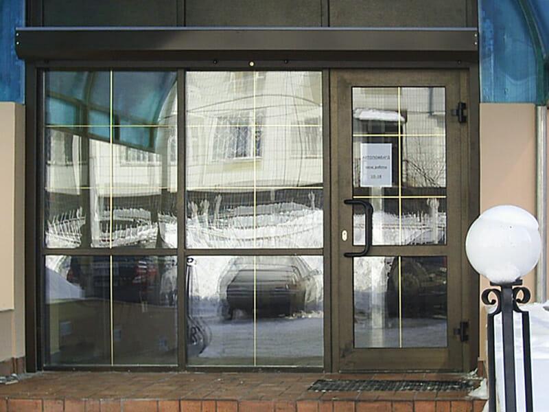 Двери из алюминия для магазина