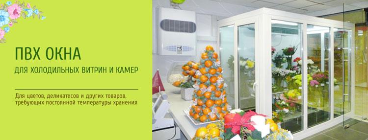 Окна для холодильных витрин и цветочных камер